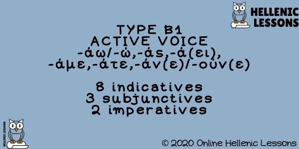 Verbs Type B1 Active Voice